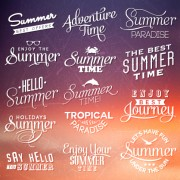 Link toSummer holiday logos with labels vector 02 free