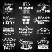 Link toSummer holiday logos with labels vector 03 free