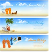 Link toSummer holiday travel time vector banner free