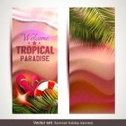 Link toSummer holidays banner vector set 02 free