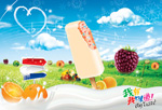 Link toSummer ice cream advertising design psd