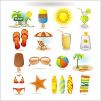 Link toSummer icon vector