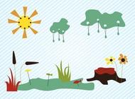 Summer lake vector free