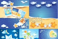 Link toSummer marine element vector