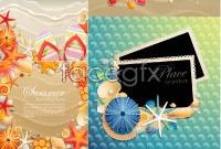 Link toSummer ocean theme card vector