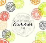 Link toSummer orange background vector