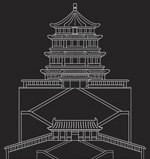 Link toSummer palace viewed from the line drawing vector