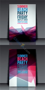 Link toSummer party poster vector background template