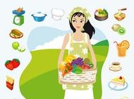 Link toSummer picnic vector free