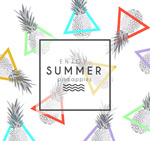 Link toSummer pineapple seamless background vector