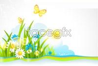 Link toSummer plant background vector