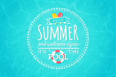 Link toSummer pool poster vector