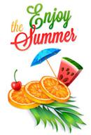 Link toSummer's sweet fruits vector