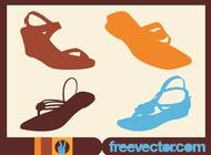 Link toSummer shoes vectors free