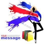 Link toSummer shopping creative poster design vector