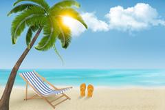 Link toSummer sunny beach background vector