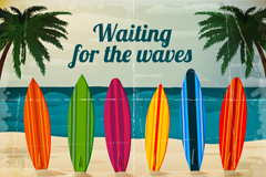 Link toSummer surfing background vector