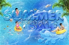 Link toSummer theme background poster psd