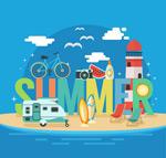 Link toSummer travel illustrations vector