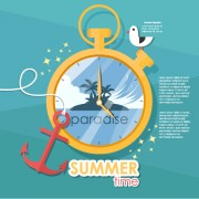 Link toSummer travel time creative background graphics 02 free