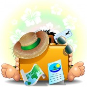 Link toSummer travel with holiday background art vector 03 free