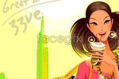 Link toSummer trend beauty vector