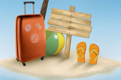 Link toSummer vacation beach background vector