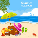Summer vacation beach vector