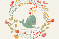 Link toSummer whale vector illustration