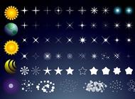 Link toSun stars moon vector free