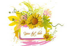 Link toSunflower border decoration background vector