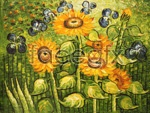 Link toSunflower garden oil painting psd