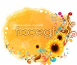 Link toSunflower pattern background vector