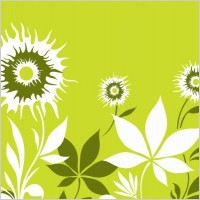 Link toSunflower with flowers vector