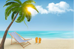 Link toSunny beach background vector