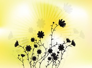 Link toSunny flower vector art free