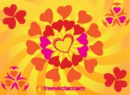 Link toSunny heart vector graphics free