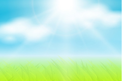 Link toSunny meadow background vector
