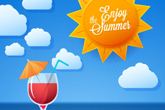 Link toSunny summer holiday vector background