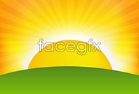 Link toSunrise background cartoon vector