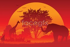 Link toSunset animal vector