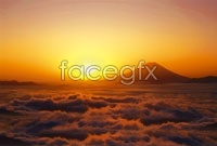 Link toSunset clouds mountain high definition pictures
