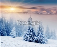 Link toSunset snow beautiful hd pictures