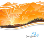 Link toSunset sunset background vector