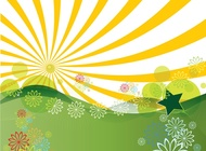 Link toSunshine landscape vector free
