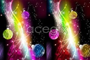 Link toSuper bright glow balls with pattern background vector