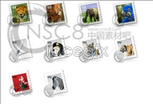 Super clear! animal stamp icon