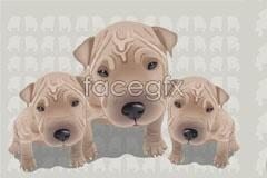 Link toSuper cute dog vector