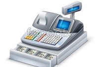 Link toSupermarket cash registers vector 3d model