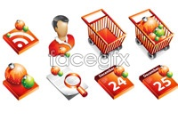 Link toSupermarket christmas theme icon vector